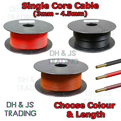 2M 3mm 27.5Amp 2 Core Twin Thinwall Cable Wire Automotive Auto Marine