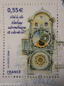 FRANCE-2008-timbre-4302-CAPITALES-EUROPEENNES-PRAGUE-HORLOGE-neuf-MNH