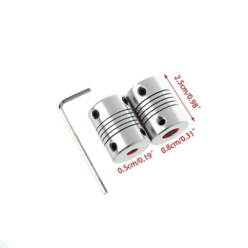 2Pcs 3D Printer Motor Shaft Coupler 5x8mm Flexible Coupling For RepRap Prusa CNC