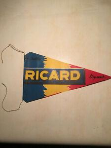 FANION-ANCIEN-RICARD-PUB-RARE-ANNEE-50-TOUR-DE-FRANCE-1956-BAR-ANISETTE-DRAPEAU