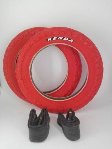 2 x Schlauch vers.Farben 2 x Kenda Fahrradreifen 12 Zoll 12.5x2.25 62-203 inkl Reifen, Schläuche & Laufräder