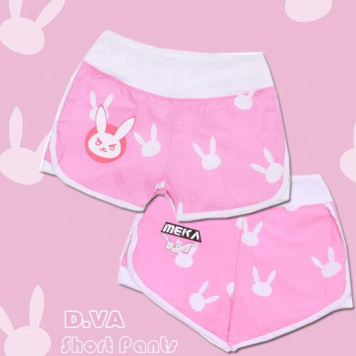 New Summer Overwatch DVA D.va Shorts Cosplay Costume Women Pants Breeches Casual
