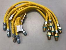 "Lot Of 6 Tubing CSSD 36"" Gas Flex-Line 3//8"" ID 1//2/"" OD BrassCraft 1//2"" MIP"