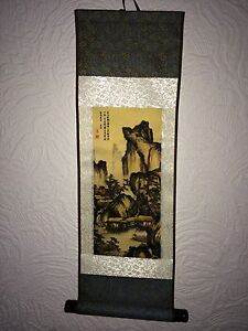 SALE-Famous-Chinese-Ancient-Landscape-Painting-Silk-Scroll-Birthday-Gift-Wife