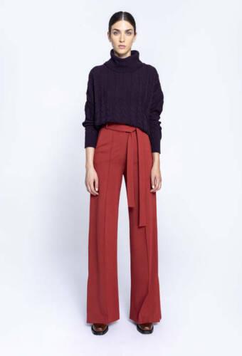 IVKO weite Hose trousers pants rot Bindeband Marlene-Hose bronze 192470