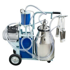 25l Stainless Steel Electric Milking Machine For Cows Bucket 2 Plug 12cowshour