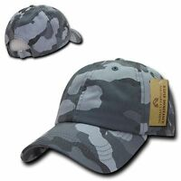 Vintage Washed Polo Cotton Military Camo Ball Cap Camouflage Baseball Caps Hats