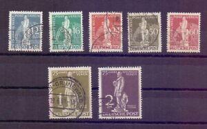 Berlin-1949-MiNr-35-41-rund-gestempelt-mit-Abart-37-I-Michel-420-00-294