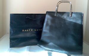 Ralph-Lauren-black-leather-handbag