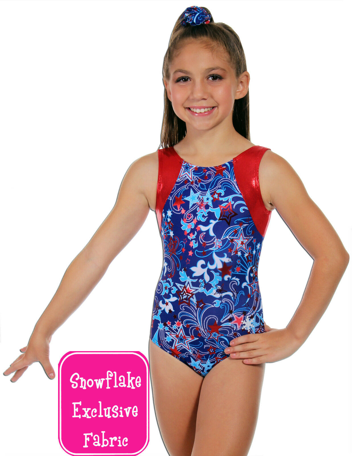 NEW  Patriot Gymnastics Leotard by Snowflake Designs