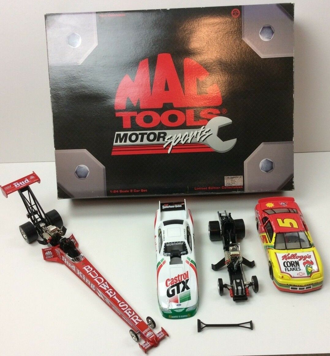 MAC Tools 1996 Championship 3 Car Set Force Labonte Kenny Bernstein Signed