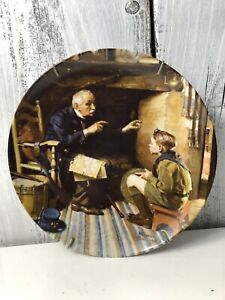 Knowles-Collector-Plate-Rockwell-Heritage-The-Veteran-12th-Issue-w-COA-30-1