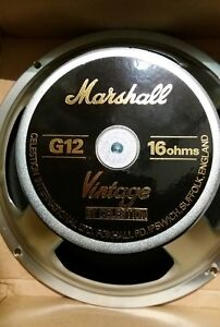 Celestion Marshall Vintage 30 Cm/12in Haut-parleur T3897b 16 Ohm Uk Made, Pour Dsl40c-afficher Le Titre D'origine Promouvoir La Production De Fluide Corporel Et De Salive