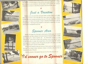 1948 Recreation Guide To Spooner Wisconsin Area W Map Of Area