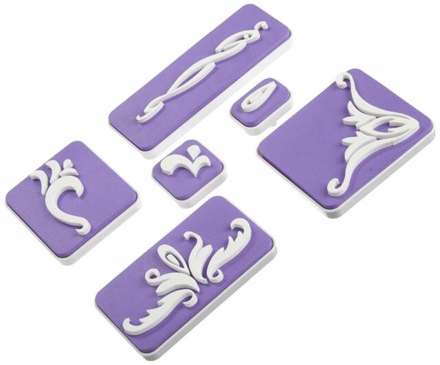 Wilton Decorating Cutting Insert Set Stamp Set Block Cleaning Tray Texture Press