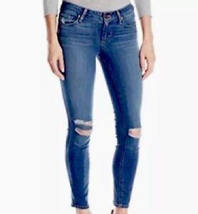 In verdeggianti taglio Jeans preslee destrutturati skinny a Paige q8pvUXx