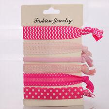 6pcs Pink Style Women Elastic Hair Ties Hair Band Ropes Hairband Ponytail Holder