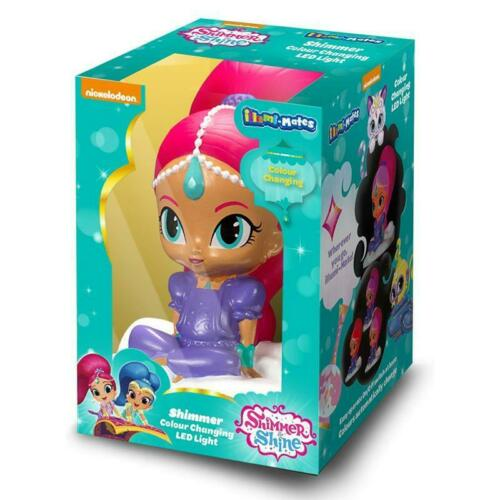 Shimmer and Shine pack of 2 NIGHT LIGHTS illumi-nate colour changing pink blue