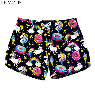 Women's 16 Colours New 2019 Summer Printed Design 3d Beach Sport Pants Shorts