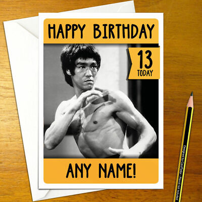 Bruce Lee Personalised Birthday Card A5 Enter The Dragon Wing Chun Jeet Kune Ebay