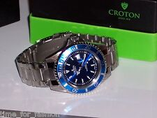 Croton Men's Steel Diver 20 Atm Date Watch CA301157BUBL