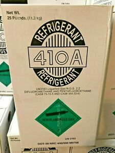 Details about R410a, R-410a Refrigerant 25 lb  Tank, NEW, Sealed, Air  Conditioning Gas, DOT 39