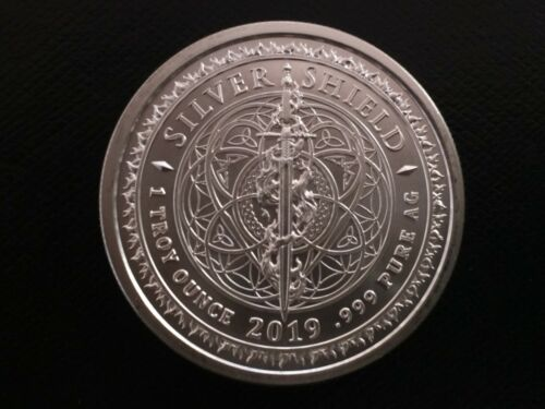1 oz silver Cosmic yin and yang BU COA .999 Pure Asia China Japan silver shield