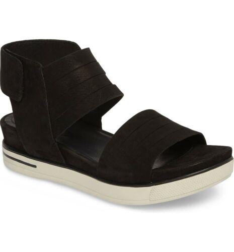 EILEEN FISHER Slice Sport Sandals Black Nubuck sz
