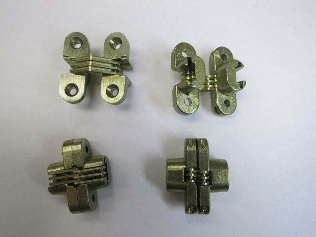 SOSS 103 US4PB Hinge, Invisible, Satin Brass, 1 1/2 In EACH