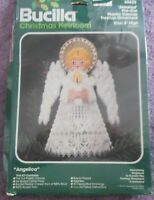 Bucilla Pre-cut Plastic Canvas Kit jeweled Treetop Ornament - Angelica