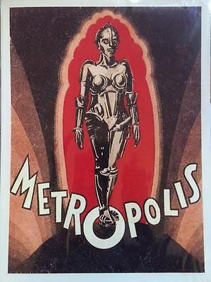 VINTAGE STYLE SCI-FI METROPOLIS 1920'S MOVIE ART PRINT 30X40CM