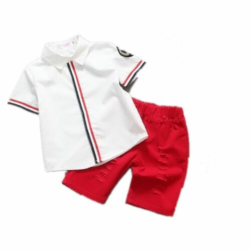 2pcs Kids Baby Boys Suits Short Sleeve tops//shorts Set Clothes Summer Outfits