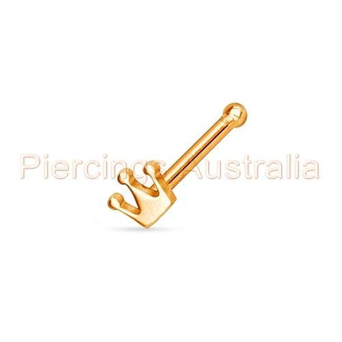 20G Nose Stud Bar Ring Crown Body Piercing Jewellery