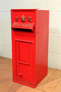 Antique British Royal Mail Queen Victoria Red Post Box  -  Warwick Reclamation