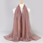 Plain-Color-Shiny-Shimmer-Glitter-Sparkly-Scarf-Hijab-Shawl-Wrap-Wedding thumbnail 8