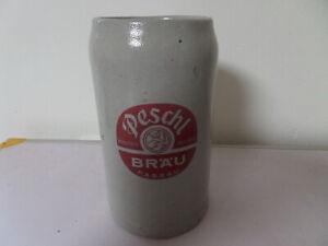 alter 1 L Bierkrug Maßkrug Peschl Bräu Passau