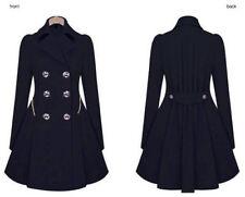 New Women Long Parka Coat Lapel Neck Outwear Winter Warm Trench Jacket Coats F0