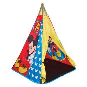 Mickey-Mouse-Tipi-Tente-de-Jeu-Neuf-Enfants-Wigwam
