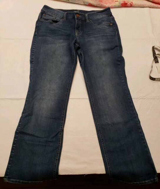 """NWT Time and Tru Women/'s Size 6 High Rise Skinny Ankle Jeans White 28/"""" Inseam"""