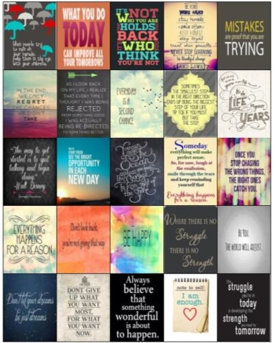 Daily Motivation /& Inspiration Quote Stickers EC Vertical and Horizontal