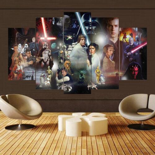 STAR WARS 5 PANEL  CANVAS ART WALL ART  BRAND NEW