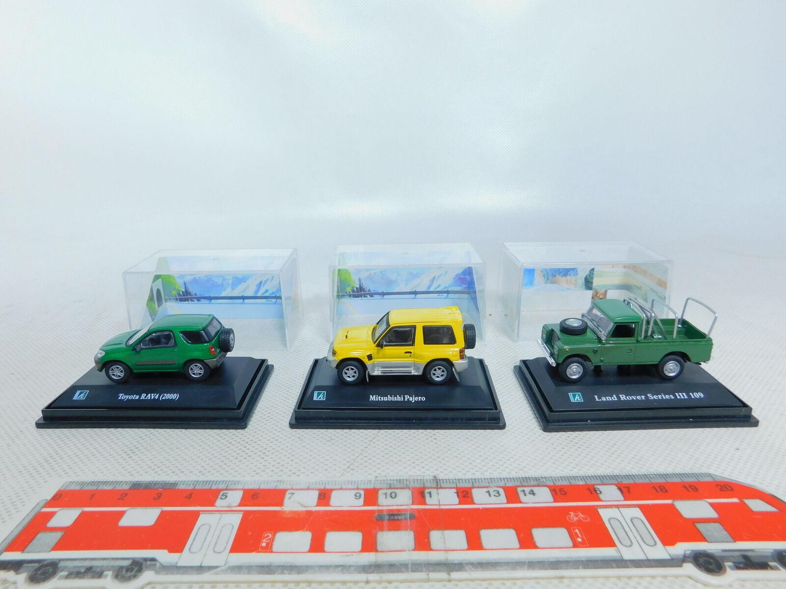 By364-0, 5  3x HONGWELL 1 72 auto  TOYOTA  LAND ROVER  Mitsubishi Pajero, Neuw  neuf dans sa boîte