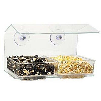 Aspects 002 Buffet Window Bird Feeder with Double Seed Tray Made in USA