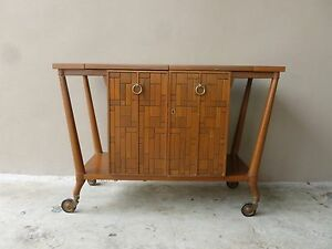 Image Is Loading MID CENTURY MODERN BERT ENGLAND BAR CART FOR