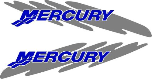 2pc Custom Set of  Mercury outboard cowling decals custom color choices splash