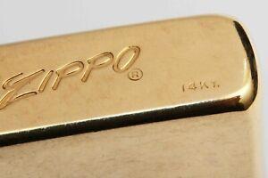 c-1960-vintage-14K-GOLD-ZIPPO-LIGHTER-Excellent-Condition-amp-Original