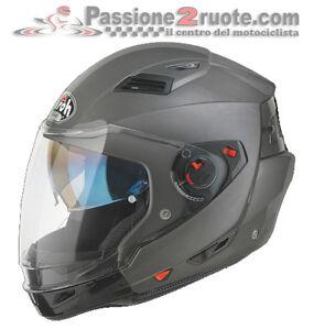 Helmet-Airoh-Executive-Anthracite-matt-moto-casque-jet-modular-helm-capacete