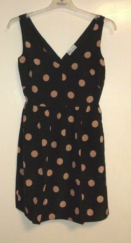 rot Valentino schwarz Polka Dot Dress Größe 40 Ladies UK UK UK Größe 8   Box45 17 A 191d30