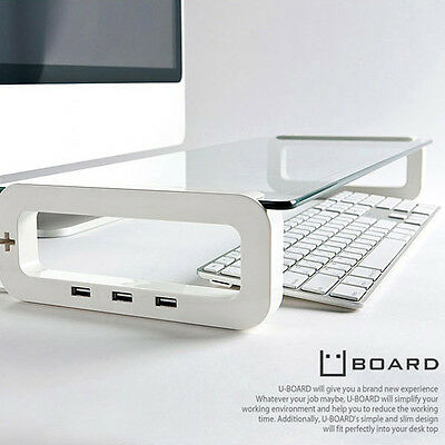 Uboard Smart Monitor Stand Laptop Notebook Mounts pedestal 3Port (USB 2.0) Korea