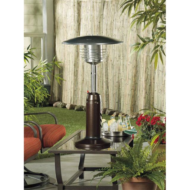 Outdoor Patio Heater In Hammered Bronze